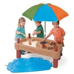 Sand and Water Table with Kids Playing