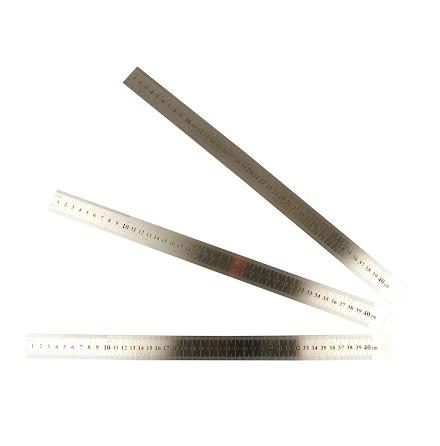 Linjal metall 40cm