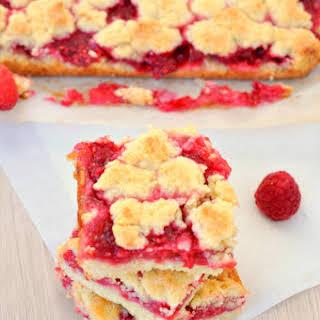 Raspberry Crumb Bars.