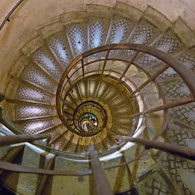 Spiral Staircase by Kwoh LK - Buildings & Architecture Other Interior ( paris, arc de triomphe, staircase, france )