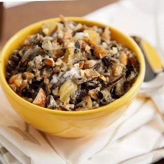 Wild Rice Porridge with Cardamom, Pecan, and Pear.