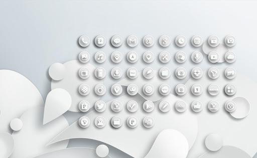 White Button Icon Pack