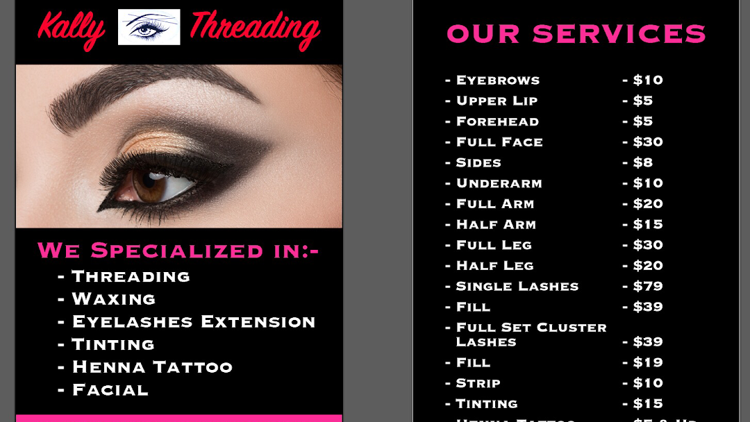 53cd2fb5c9c Kally Threading - Best Service in affordable Prices Beauty Salon in ...