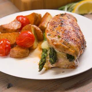 Asparagus-Stuffed Chicken.