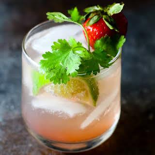 Strawberry Cilantro Cocktail.