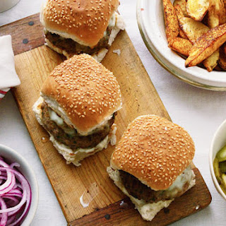 Lamb Burgers and Chunky Potato Wedges