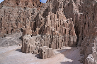 Photo: These formations, made of silt, clay and volcanic ash, are the remnants of that lake.