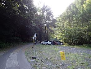 登山口前はバスの転回場
