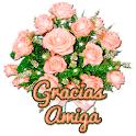 Pegatinas Gracias amor con flores WAStickerApps icon