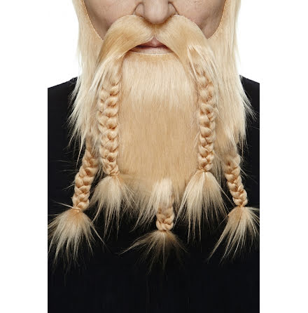 Vikingaskägg blond deluxe