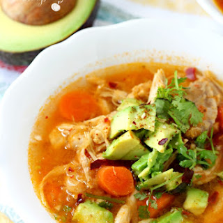 Skinny Chicken Tortilla Soup