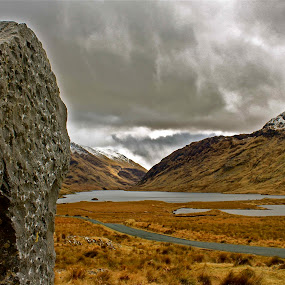 The Blessed West by Oona Tully - Landscapes Mountains & Hills ( stormy, mountains, ireland, lakes, landscape )