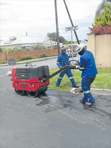 Picture: SUPPLIED ESSENTIAL WORK: Residents can expect some relief from the potholes in suburbs in BCM as the metro's pothole and maintenance repair programme gets underway Picture: SUPPLIED