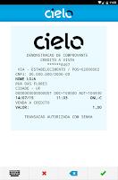 Screenshot of Cielo Mobile