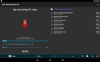 Screenshot of Easy Voice Recorder Pro