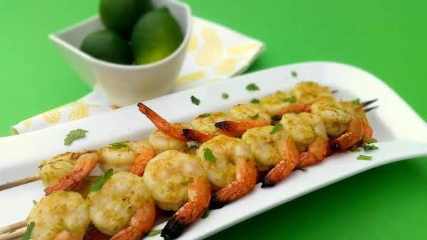 Grilled Jalapeno And Lime Shrimp Skewer
