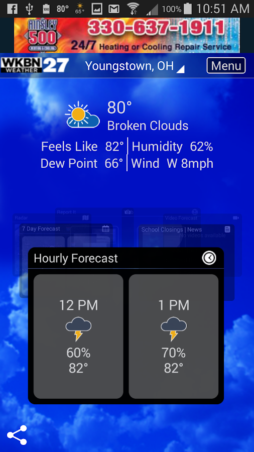 WKBN Weather- screenshot