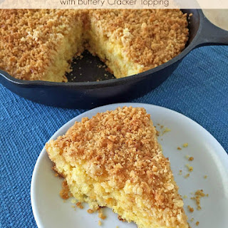 Pineapple Cheddar Cornbread with Buttery Cracker Topping
