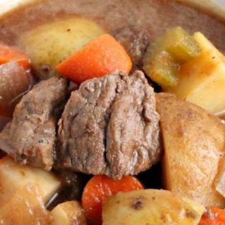 Slow Cooker Pumpkin Ale Beef Stew.