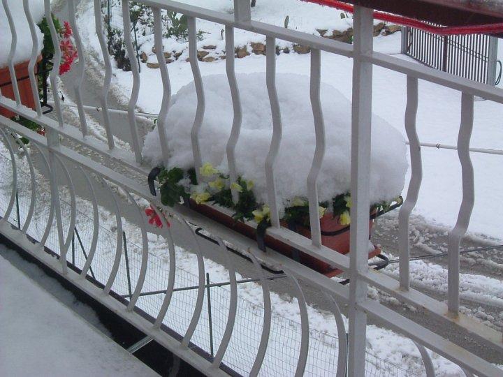Bianco balcone di penna
