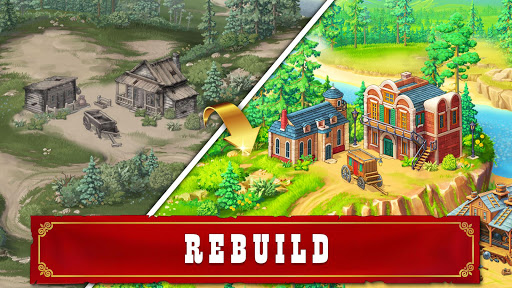 Jewels of the Wild West: Match gems & restore town android2mod screenshots 9