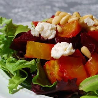 Roasted Beet Salad with Balsamic Mustard Vinaigrette