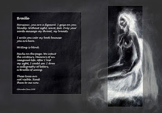 Photo: Replacing an earlier version of this poem painting with the charcoal sketch inverted.
