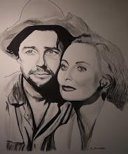 """Photo: Gérard Philipe et Michèle Morgan dans """"Les orgueilleux"""" d'Yves Allégret 1953"""