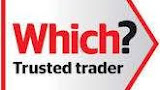 A logo for Trusted trader