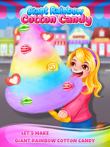 Carnival Fair Food - Sweet Rainbow Cotton Candy  captures d'écran 4