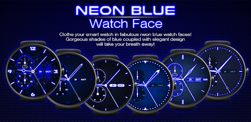 Neon Blue Watch Face 1 3 apk download for Android • com tpas