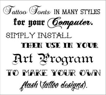 Tattoo Lettering Gallery