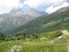 Photo: Walking up a road towards Col de Balme and the France-Swiss border