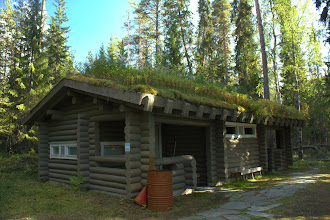 Photo: Sod-roofed sauna at the campground in Oulanka National Park