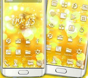 Golden Shining Theme - náhled