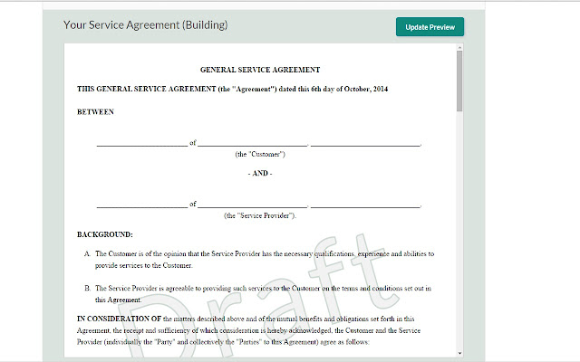 Legal Forms And Agreements Chrome Web Store