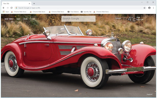 Classic Cars HD Wallpapers New Tab Themes