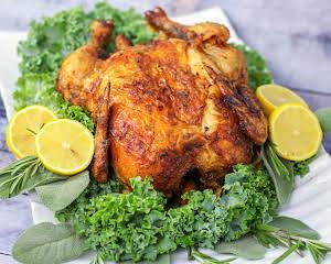Air Fryer Rotisserie Chicken
