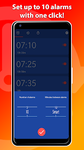 Set multiple alarms with One Click! - OneClock Screenshot