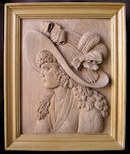 Photo: Dama con sombrero. Tamaño (sin marco): 29 x 37 cm. Talla en madera. Woodcarving.Para leer algo más en relación con esta obra ir al blog: http://tallaenmadera-woodcarving-esculturas.blogspot.com/2011/10/dama-con-sombrero.html