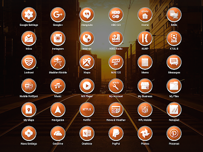 Enyo Orange - Icon Pack screenshot 13