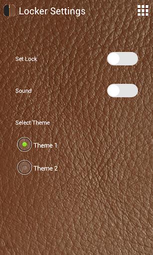レザージッパーの画面のロック