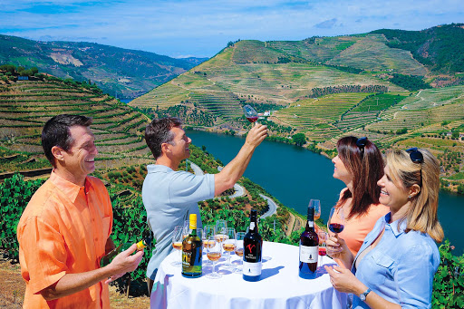 douro-valley-winery-tasting.jpg - Wine tasting during a shore excursion in the Douro Valley of Portugal.