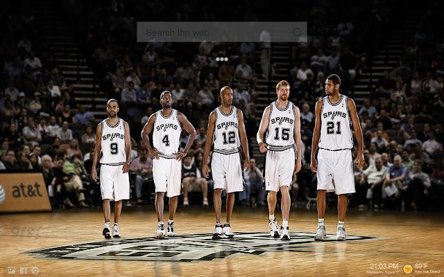 San Antonio Spurs HD Themes New Tab