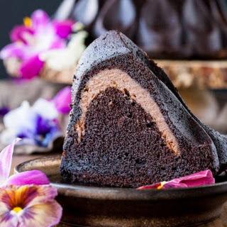 Chocolate Cheesecake Stuffed Bundt Cake