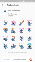 screenshot of Cute Blue Koala Stitch Stickers for WhatsApp