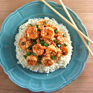 10 Minute Sweet & Spicy Shrimp