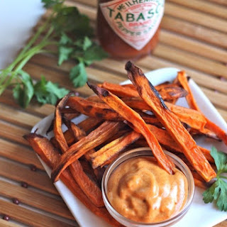 Sweet Potato Fries with Spicy Mayonnaise Recipe