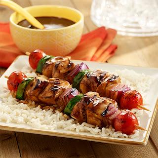 Grilled Chicken Kabobs.