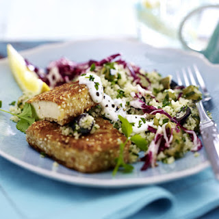 Sesame Tofu with Tabbouleh and Radicchio